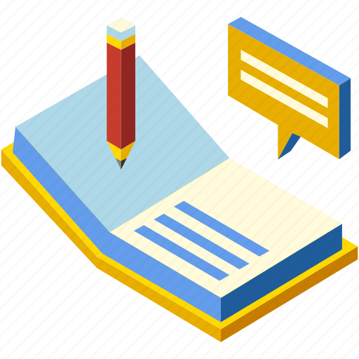 education, improvement, isometric, knowledge, learning, literature, pursuit icon