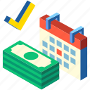 credit, financial, investment, isometric, loan, trade, transaction icon