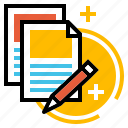 annual, business, contract, document, proposal, report icon