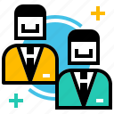 corporate, hr, human, partnership, recruitment, resources icon