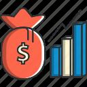 business, chart, entrepreneurship, finance, money, ui icon