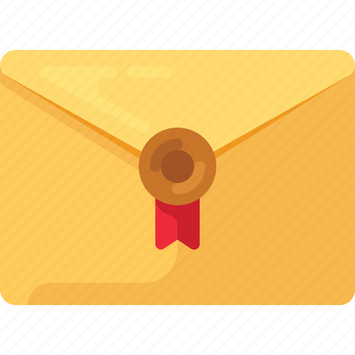 email, envelope, letter, mail, official, post, sealed icon