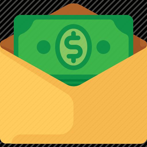 cash, dollar, email, envelope, mail, money icon