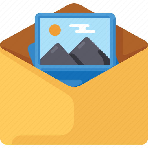 email, envelope, image, mail, photo, picture icon