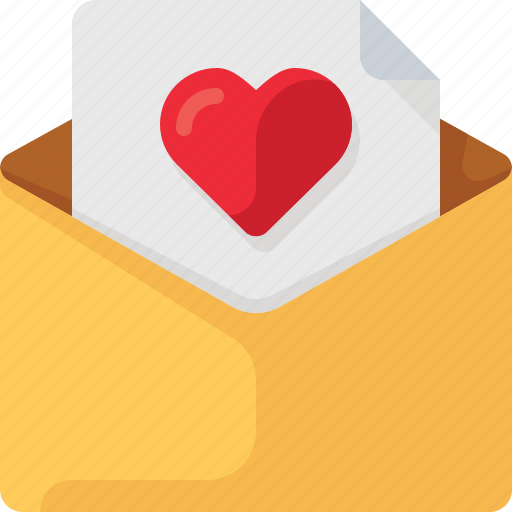 email, envelope, heart, letter, love, mail, valentine icon