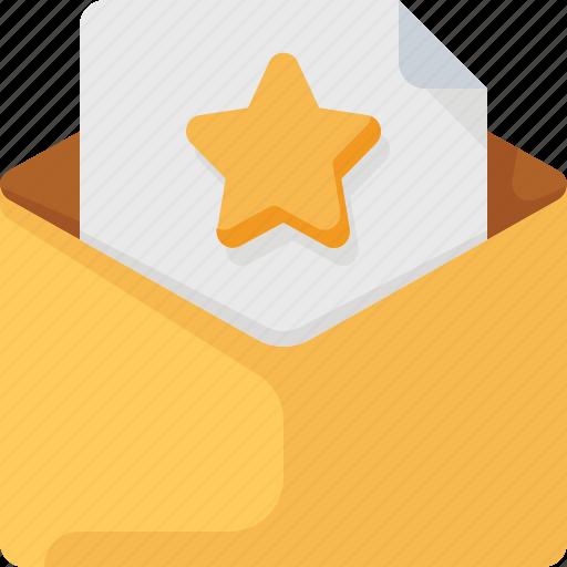 Email, envelope, favorite, letter, mail, star icon - Download on Iconfinder