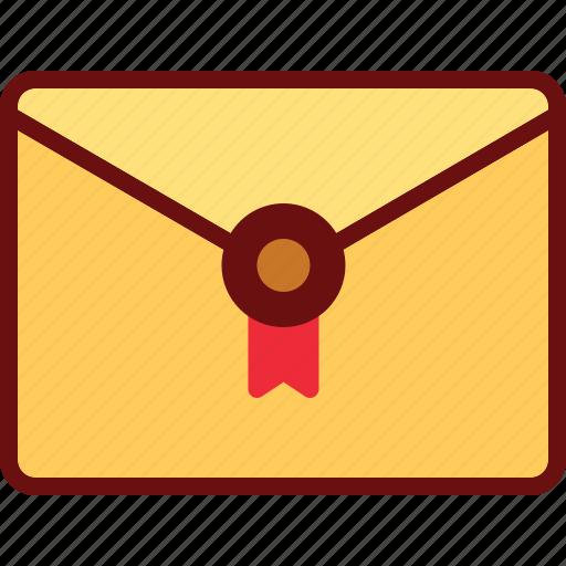 email, envelope, invitation, letter, stamp icon