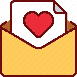 email, envelope, favorite, heart, like, love, valentine icon