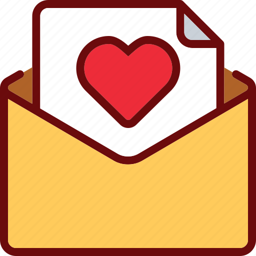 Email, envelope, favorite, heart, like, love, valentine icon - Download on Iconfinder