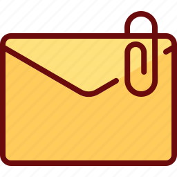 attachment, clip, email, envelope, mail icon