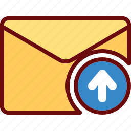 arrow, email, envelope, up, upload icon