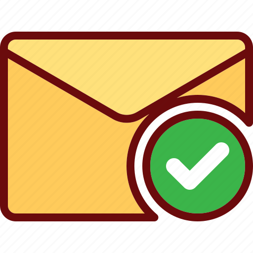 approved, check, done, email, envelope, mail icon