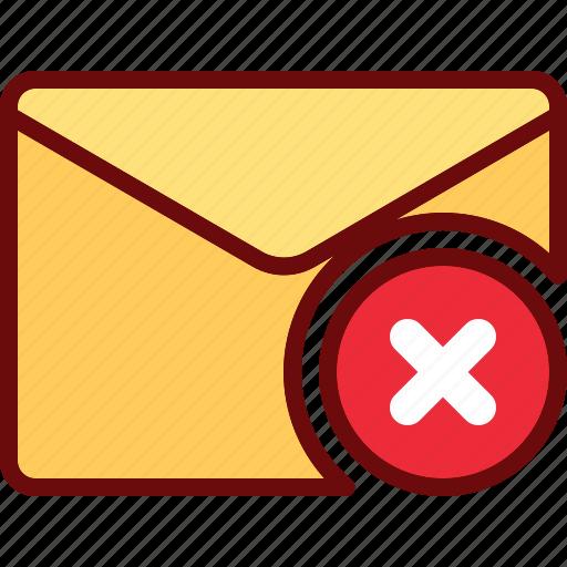 block, cross, delete, email, envelope, mail icon