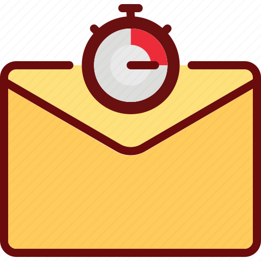email, envelope, sent, speed, stopwatch, timer icon
