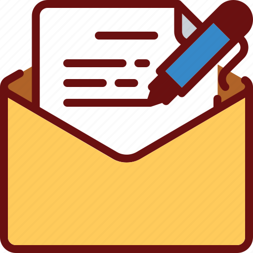 edit, email, envelope, letter, pen, texting, write icon