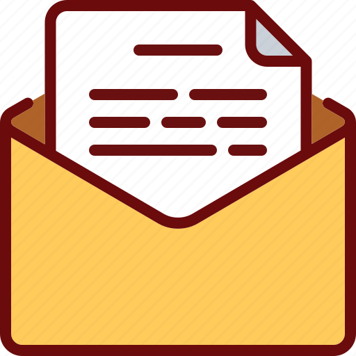 document, email, envelope, letter, mail, text icon