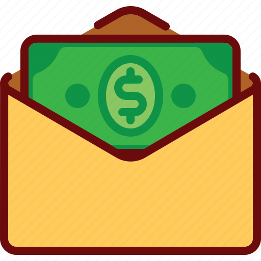 attachment, email, envelope, finance, money, pay icon
