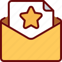 envelope, favorite, email, letter, star
