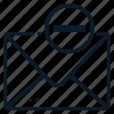 delete, envelope, letter, mail, message