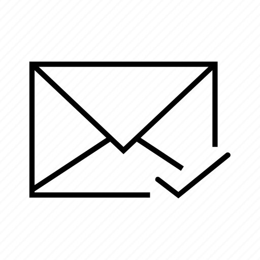 check, checked, e-mail, email, envelope icon