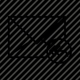 arrow, circle, e-mail, envelope, forward icon