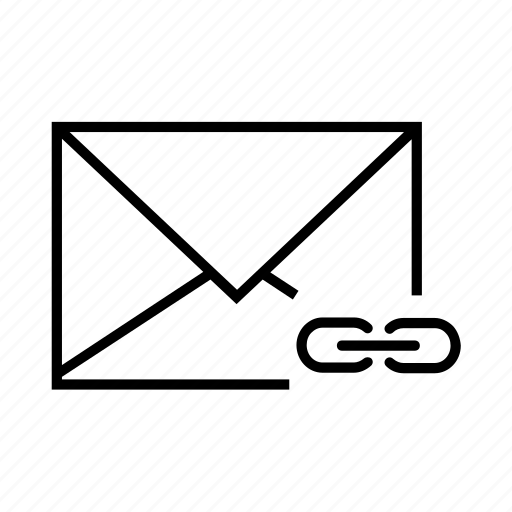 e-mail, email, envelope, insert link, link icon