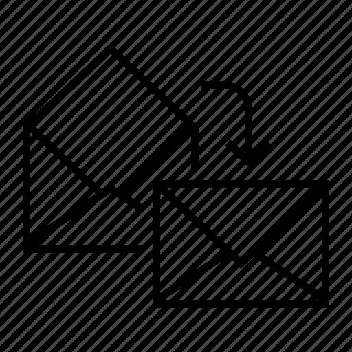 e-mail, email, envelope, mark as unread, unread icon