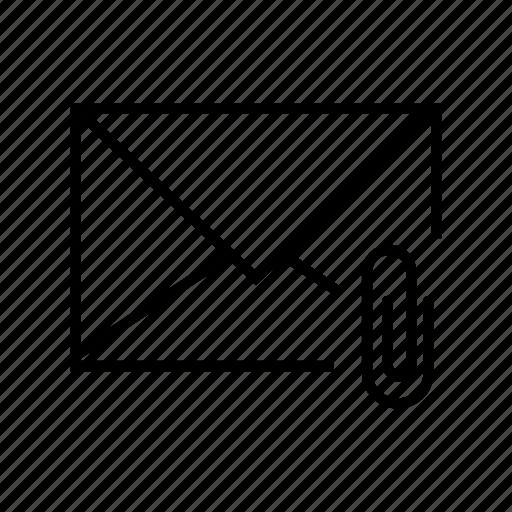 attach, attachment, e-mail, email, envelope icon
