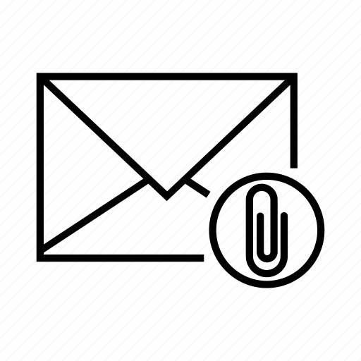 attach, attachment, e-mail, email, envelope icon