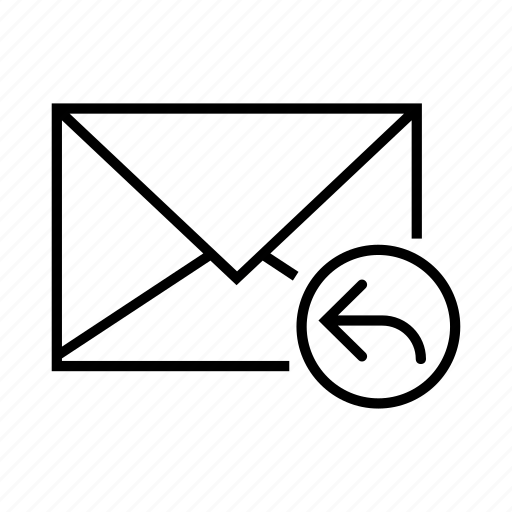arrow, e-mail, email, envelope, reply icon