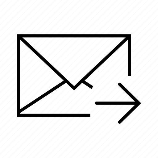 arrow, email, envelope, right, send icon