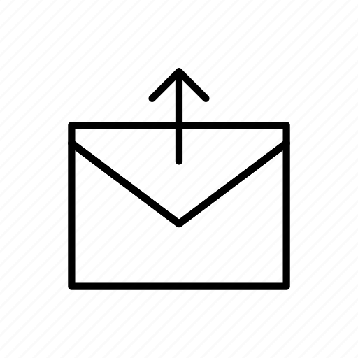 email, envelope, envelopes, letter, mail, message, upload icon