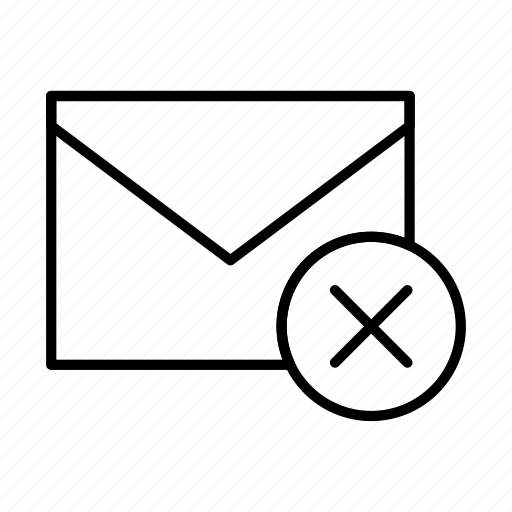 email, envelope, envelopes, letter, mail, message, remove icon
