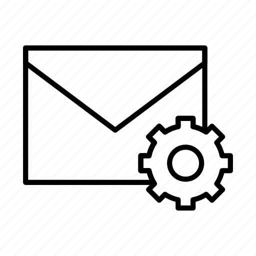 email, envelope, envelopes, letter, mail, message, settings icon