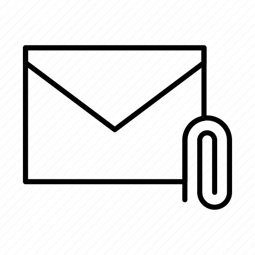 attach, email, envelope, envelopes, letter, mail, message icon