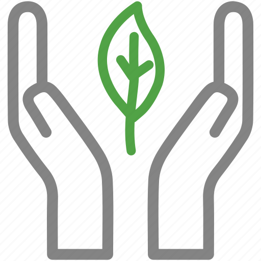 agriculture, eco, ecology, environment, hand leaf, plant, protection icon