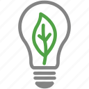 eco, effciency, energy, leaf, light bulb, lighting, sustainability icon