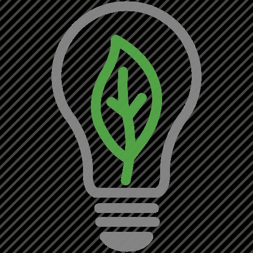 eco, effciency, energy, leaf, light bulb, lighting, sustainability icon