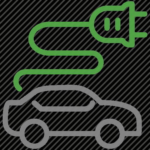 car, eco, electric, vehicle icon