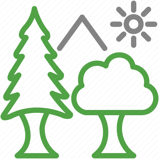 ecology, environment, evergreen, forest, nature, plant, trees icon