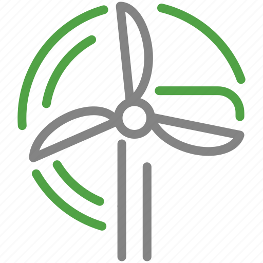 energy, green, mill, renewable, wind icon