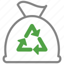 bag, clean, cleaning, disposal, garbage, trash icon