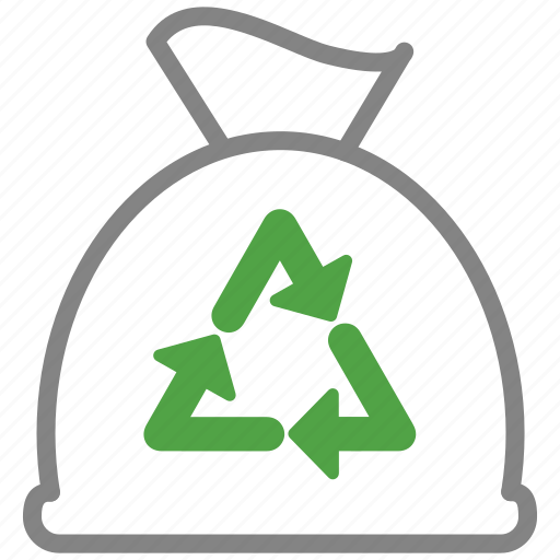 bag, clean, cleaning, disposal, garbage, trash icon