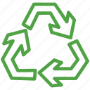 eco, ecology, environment, green, recyclable, recycle, recycling icon