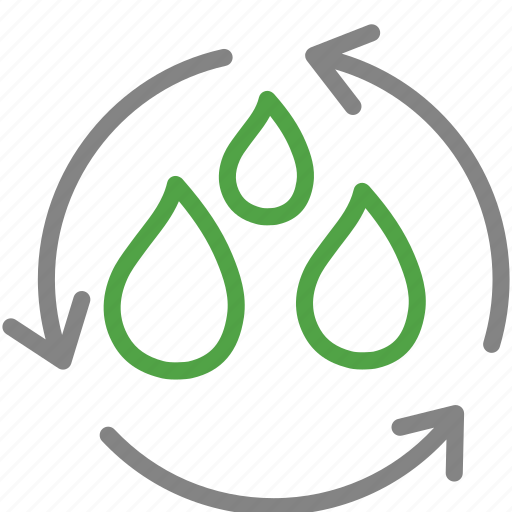 environment, recycle, reuse, sustainable, trash, water icon