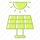 ecology, energy, panel, solar icon