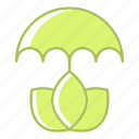ecology, energy, environment, protection, umbrella icon
