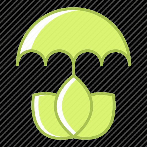 ecology, energy, environment, protection, umbrella icon