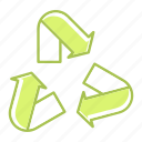 ecology, energy, environment, recycle, reuse icon