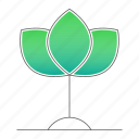 agriculture, eco, ecology, plant, project, sprout, startup icon